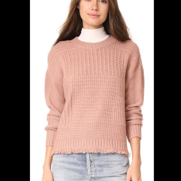 Madewell stitchmix pullover sweater in dusty rose
